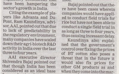 Challenges in agri-biotech sector & AAI's mission