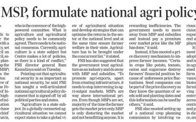 Scrap MSP, formulate national agri policy: FSII
