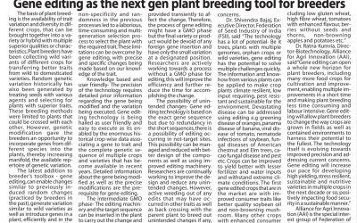 Western Times – Gene editing as the next gen plant breeding tool for breeders