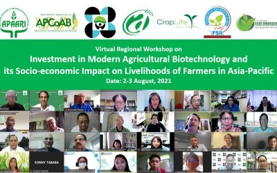 Virtual Regional Workshop on Investment in Modern Agricultural Biotechnology and its Socio-Economic Impact on Livelihoods of Farmers in Asia-Pacific – August 02-03, 2021